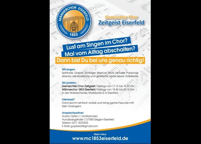 Sängerwerbung Zeitgeist und Männerchor 1853 Eiserfeld